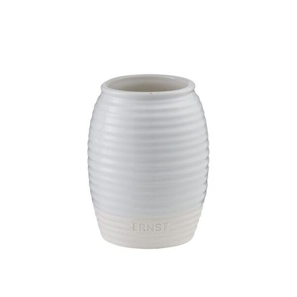 Vacker vas i vit stengods från ERNST