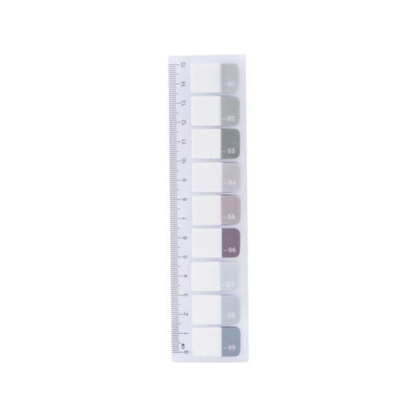 Index till papper med siffrorna 1-9