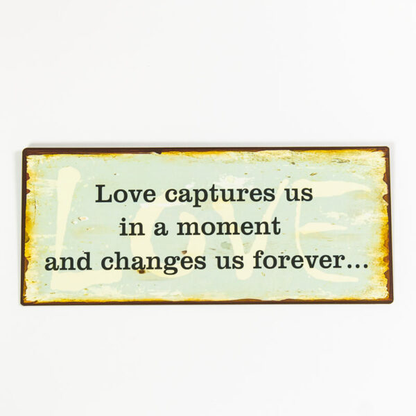 """Skylt """"Love capture us in a moment and changes us forever"""""""