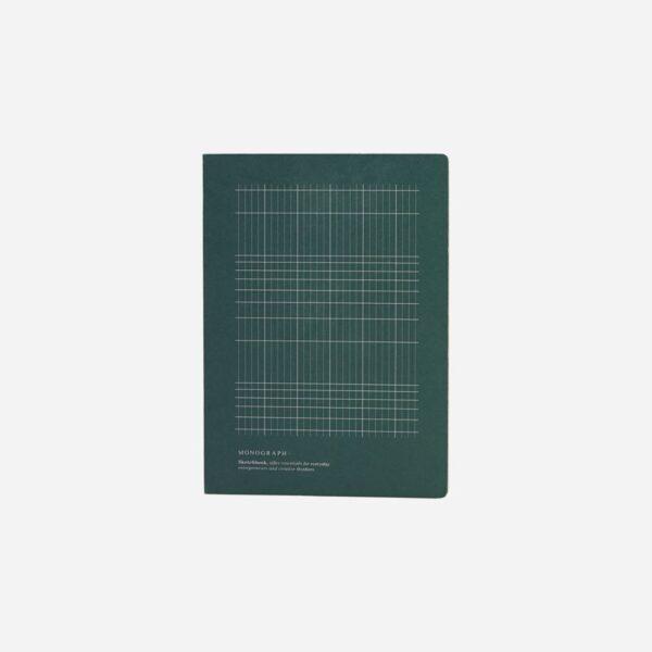 notebook grön grå