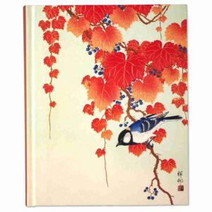 Anteckningsbok Bird & red ivy journal