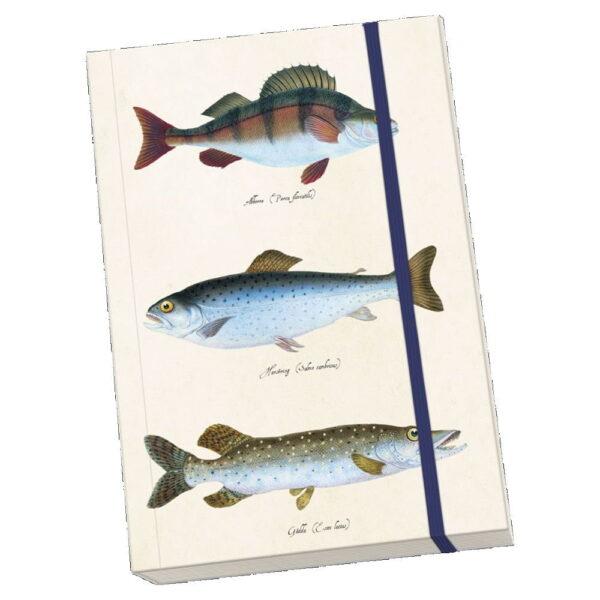 Anteckningsbok fiskar mjuk pärm