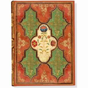 Anteckningsbok Floral parchment hård pärm