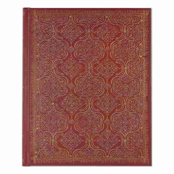 Anteckningsbok Garnet filigree journal hård pärm