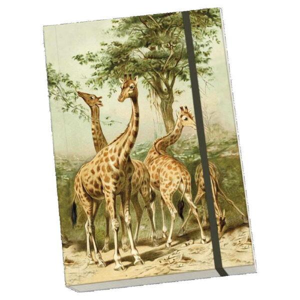 Anteckningsbok giraffer mjuk pärm