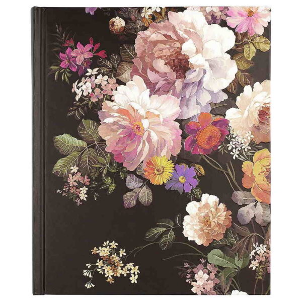 Anteckningsbok Midnight floral hård pärm