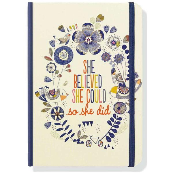 Anteckningsbok She believed she could journal