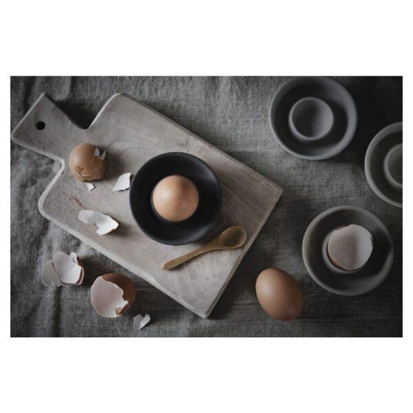 Äggkopp miljö mörkgrå