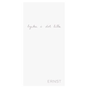 Ernst servett lycka i det lilla vit/grå