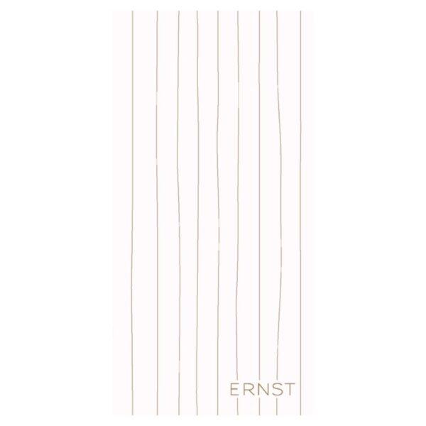 Ernst servett vit med gul rand