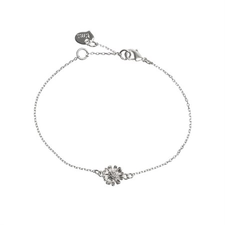 3D Blomma Armband Silver