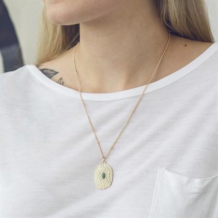 Amulett Långt Halsband m