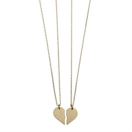 Broken heart Halsband Guld