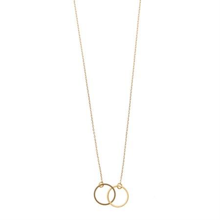 Dubbel cirkel Halsband Guld