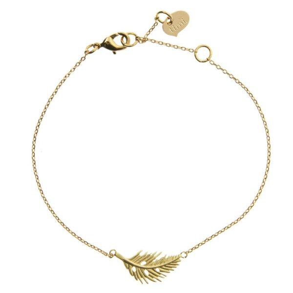 Fjäder Armband Guld