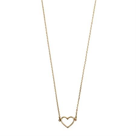 Hjärta Halsband Guld