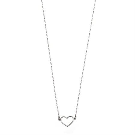 Hjärta Halsband Silver