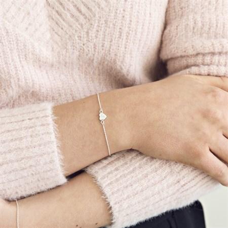 Hjärta armband Sterlingssilver miljö