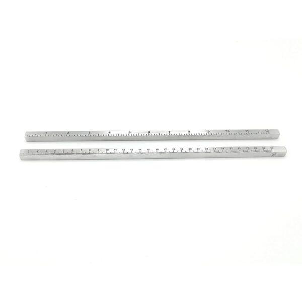 Linjal metall cm