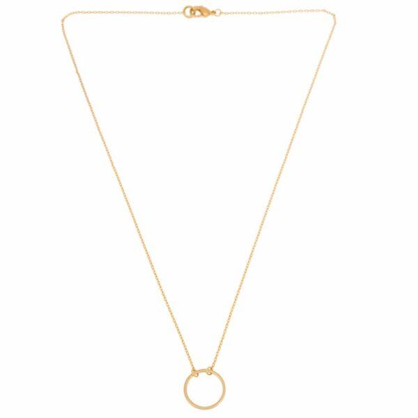 Liten cirkel Halsband guld