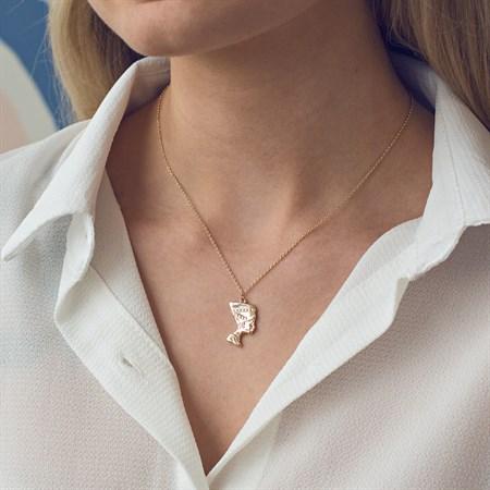 Nefertiti Halsband Guld m