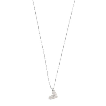Oregelbundet hjärta Halsband Silver
