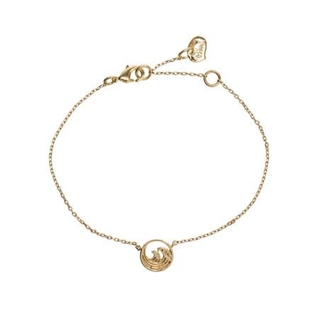 Våg Armband Guld
