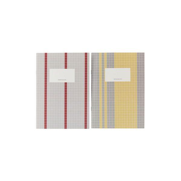 Anteckningsbok grå/gul