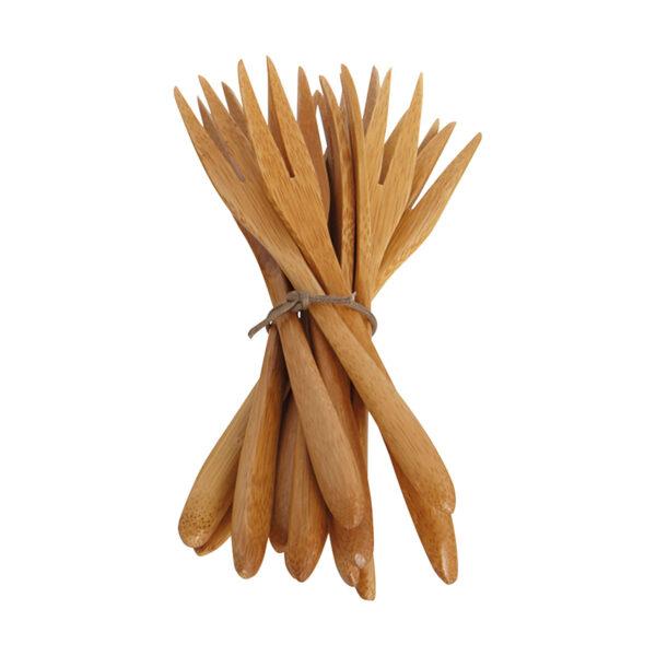 Gaffel, Bamboo, Natur -Matbordet 1