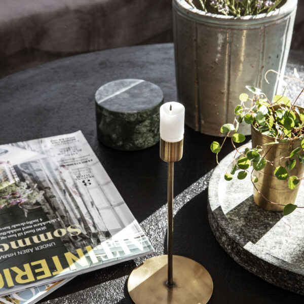 Ljusstake, Anit, Antik mässing -På bordet 3