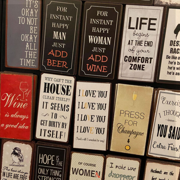 Magneter med budskap