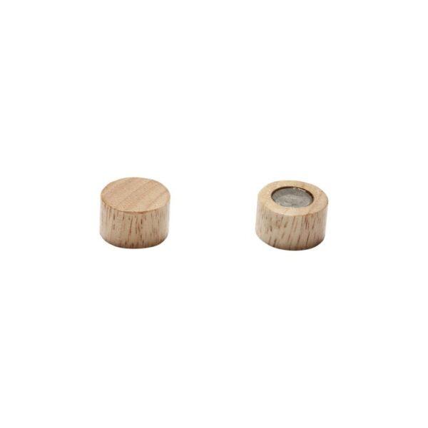 Magneter runda i trä