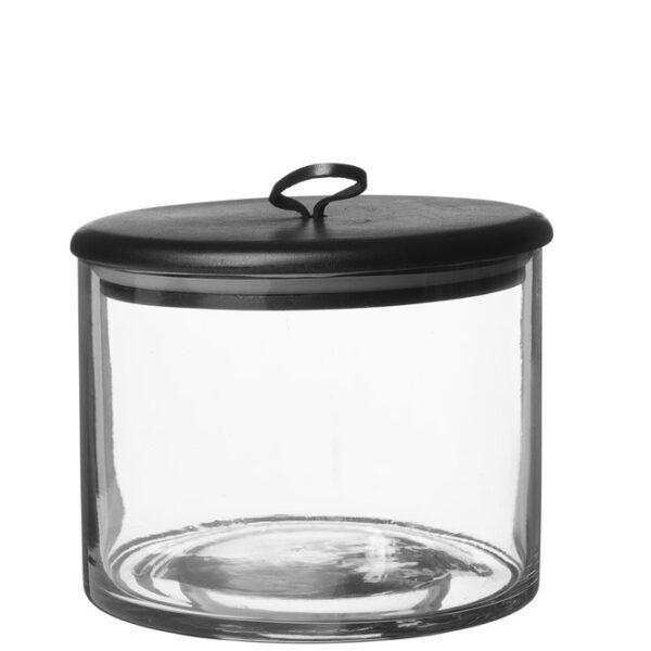 Glasburk Kuta med svart trälock