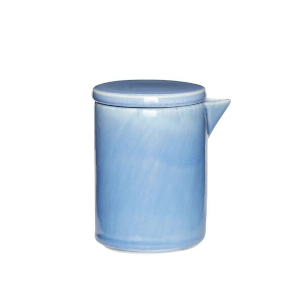Mjölkkanna blå keramik