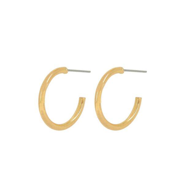 Örhängen Infinity Hoop Guld