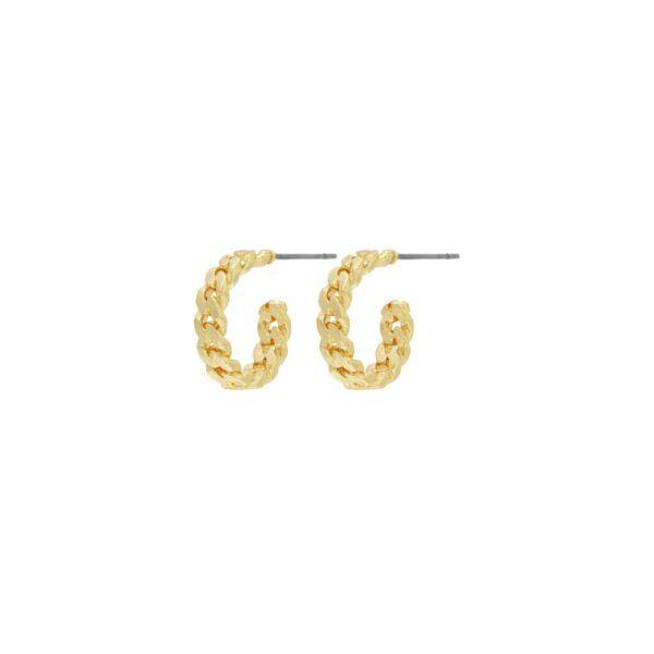 Örhängen Infinity Small Hoops Guld