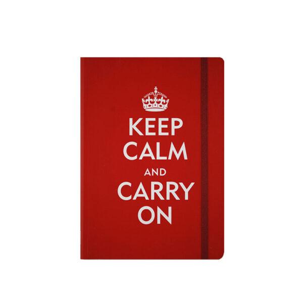Anteckningsbok - Keep Calm and Carry on