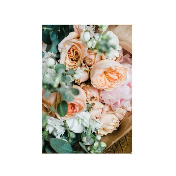 Kort Bukett med vackra blommor