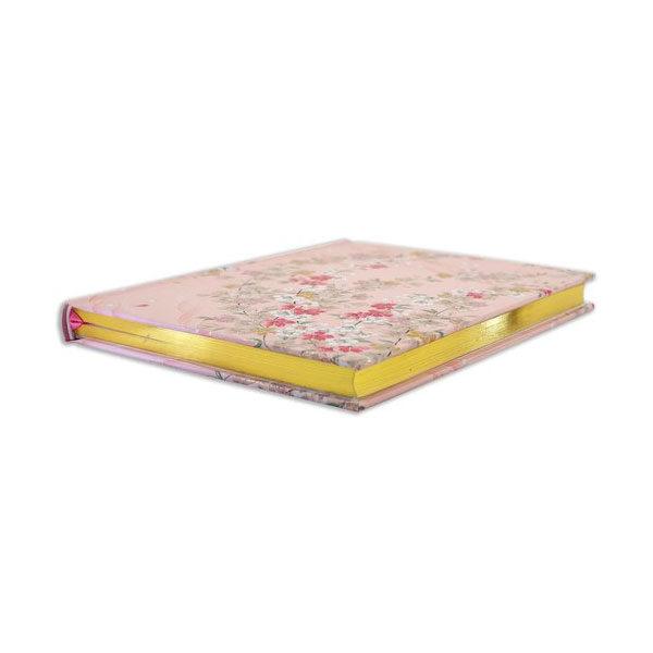 Anteckningsbok-Cherry-Blossom-Journal-guldiga-sidor