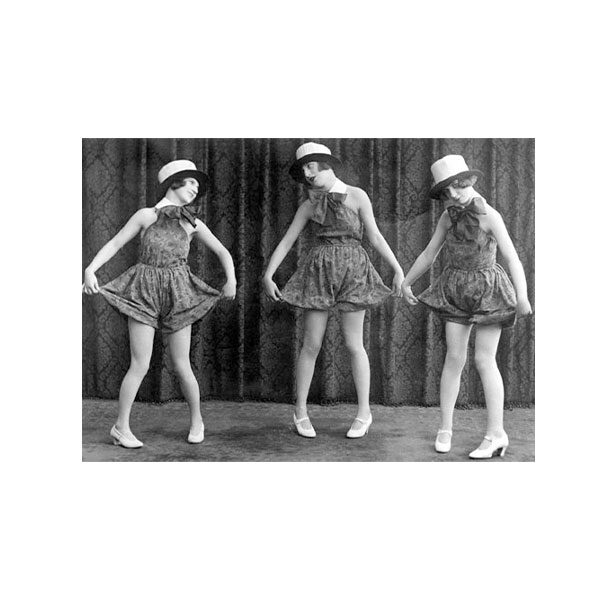 Dubbelvikt Kort - Cabaret performers med svartvitt motiv