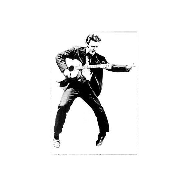 Dubbelvikt Kort - Elvis Presley svartvitt fotografi