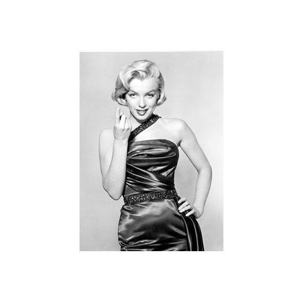Dubbelvikt Kort - Marilyn Monroe med svartvitt fotografi
