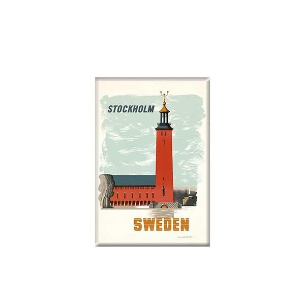 Magnet med bild på Stockholm Sweden