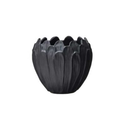 Kruka-ilona-i svart stengods -mellan